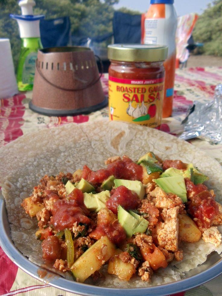 53 best vegan camping food images on pinterest kitchens camping vegan soyrizo burrito camping meal forumfinder Gallery