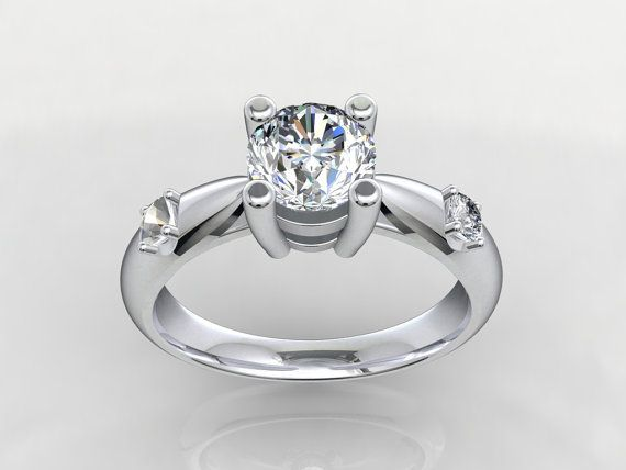Solitaire Triology 3D CAD STL File Format Ring by PiettroJewelry, $15.00