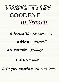 5 ways to say Goodbye in French | francophil|osophy