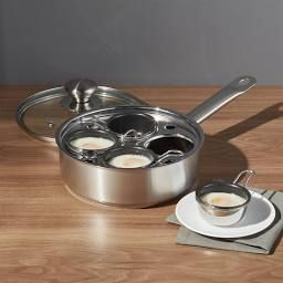 ZWILLING ® Demeyere Resto 4-Cup Stainless Steel Egg Poacher Set - Crate and Barrel