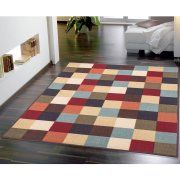 Ottomanson Ottohome Collection Contemporary Checkered Design Modern Area Rugs and Runners with Non-Skid (Non-Slip) Rubber Backing, Multi-Color Image 2 of 4