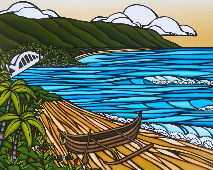 Canvas Art Prints Heather Brown Art Tropical Hawaiian Surf Art Wall Art