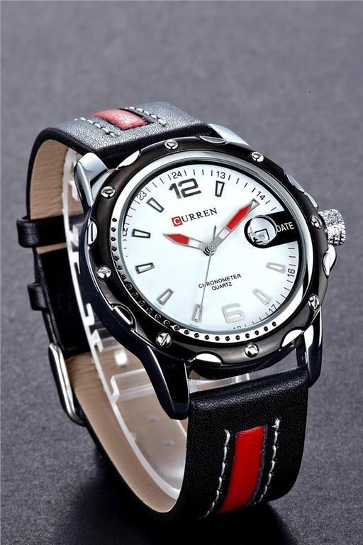 Annons på Tradera: CURREN 8104 Sportig Kvarts Fashion Herrur. Förstoringsglas Datum Indikator