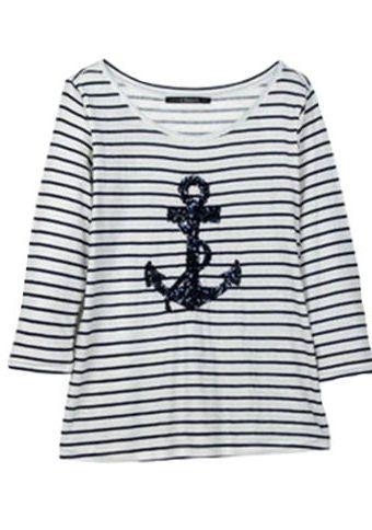 Proužkované tričko s motivem kotvy #ModinoCZ #strips #fashion #modern #trend #clothing #pruhy #oblékání #moda #trendy