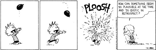 Calvin and Hobbes...Hindsight Bias...Cognitive Psychology