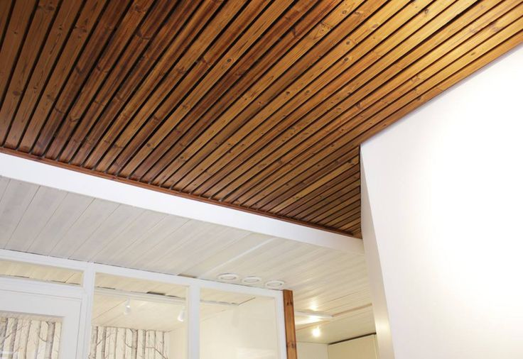 Ceiling @Lunawood´s office in Finland. Interior design Jaana Karell