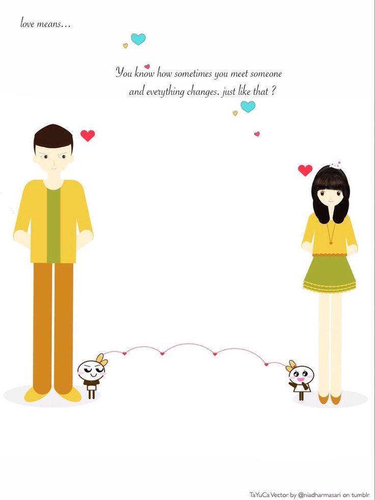Cute Doodles — Love means … Just like that? (^▽^)   Cute Doodle...
