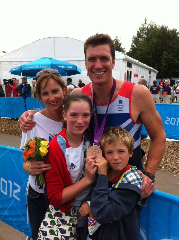 GB Rowing Team's Greg Searle and family, London 2012