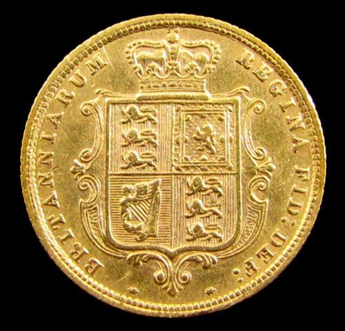 GOLD COIN HALF SOVERIGN  VICTORIA 1883  YOUNG HEAD CO 823 gold coin uk, england gold coins,Guinea gold sovereign