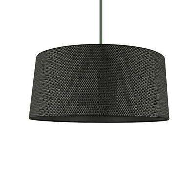 BARILI - Lampa wisząca Tweed Czarny Ø39cm Metropolight