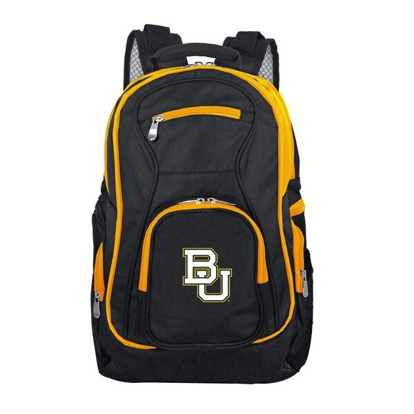 Baylor Bears Trim Color Laptop Backpack Black Baylorbears Backpacks Laptop Backpack Black Backpack