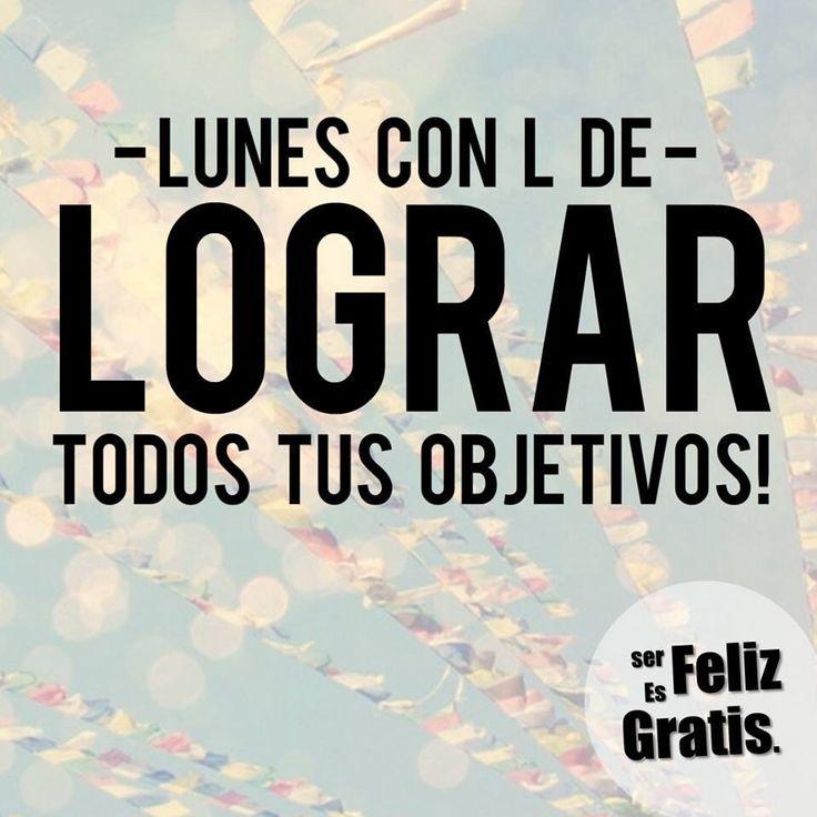 Cumple tus metas y logra tus objetivos... ¡El 2013 casi termina! ¡Feliz inicio de semana!