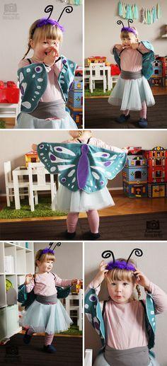 Der süsse kleine Schmetterling verschönert jedem Mädchen den Faschingstag.   Beautiful butterfly for girls to sew yourself