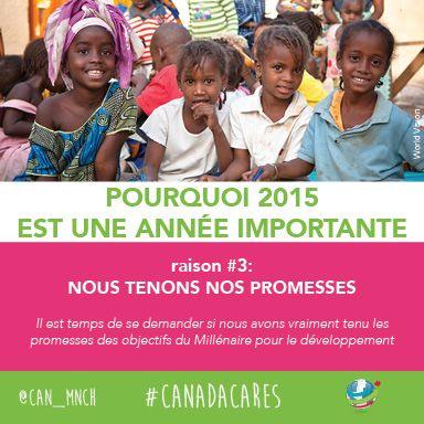 2015 est importante pour les mères, les bébés et les enfants du monde entier. Raison no 3 : Cette année, nous tenons nos promesses.