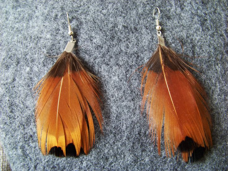 Feather earngs. Boho. Hippie. Tribal. Native. Pheasant feathers.
