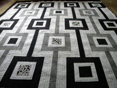So effective in black, white and grey tones.  Would be pretty with occasional inside rectangle of lime green.