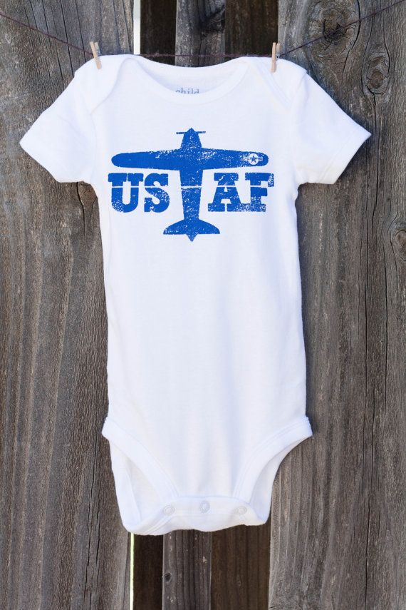 Hey, I found this really awesome Etsy listing at http://www.etsy.com/listing/151827342/air-force-baby-onesie-choose-your-color