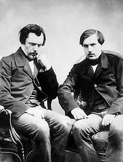 Edmond (à gauche) et Jules (à droite) de Goncourt par Félix Nadar, 1854