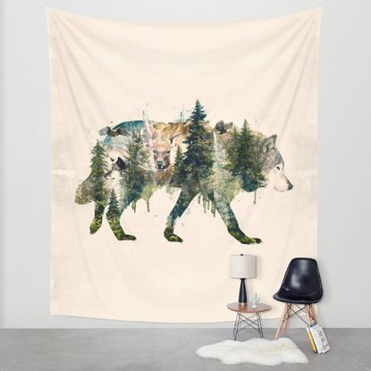 Wolf is the Pride of Nature Wall Tapestry by Barrett Biggers   Society6
