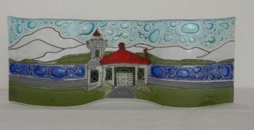 Mukilteo Washington WA Lighthouse Medium Wavy Fused Art Glass Made in Ecuador   eBay