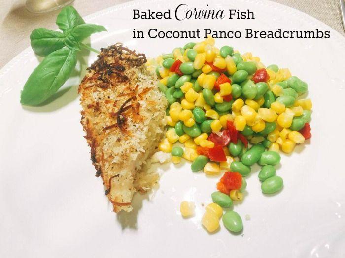 Corvina Fish Baked In A Coconut Crust recipe #recipeideas