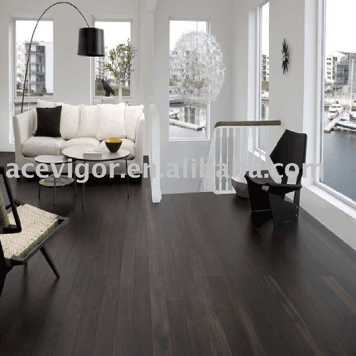 black hardwood flooring ideas