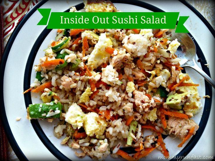 Inside Out Sushi Salad