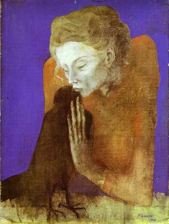 Picasso - Woman with a Crow; eerily beautiful