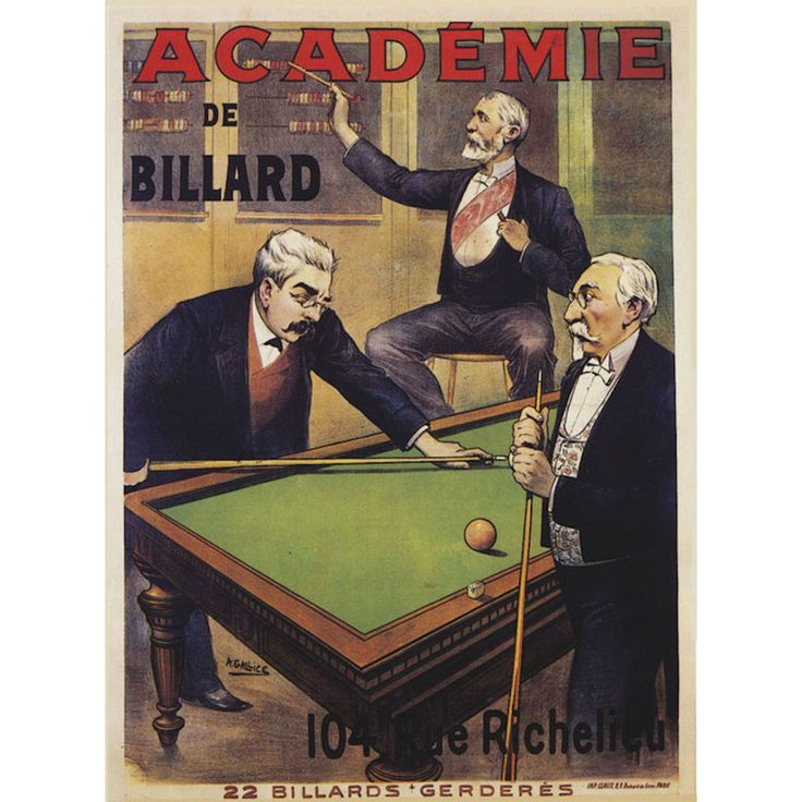 Antique Billiards Sign Giclee Painting · Canvas WallsCanvas Wall ArtContemporary  ...