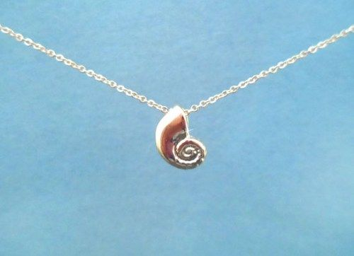 Ariels Voice, Shiny Gold Shell, Little Mermaid, Goldfilled, Necklace | simplecrystal - Jewelry on ArtFire