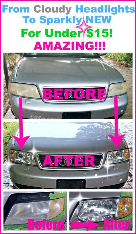 RESTORE CLOUDY HEADLIGHTS TO NEW FOR UNDER $15 ...