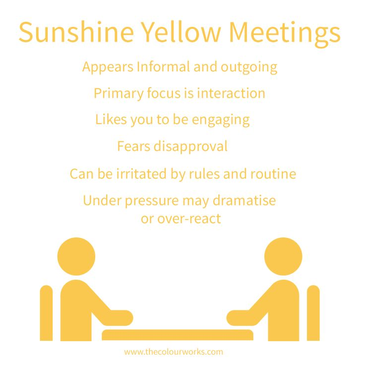 According to Professor Albert Mehrabian's research, our body language accounts for 55% of communication. Can you spot anyone with a lot of Sunshine Yellow energy around you?
