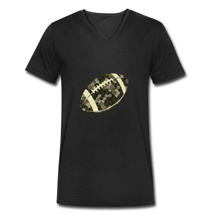 StS Football Camo V-Neck T-Shirt aus Bio-Baumwolle by 40 Burger // Finest Football & Fashion. #americanfootball #football #sts #salutetoservice #camo #camouflage #40b #nfl #rannfl #t-shirt #tshirt #vneck #v-neck #organiccotton #organic #cotton #biobaumwolle #fairwear #streetwear