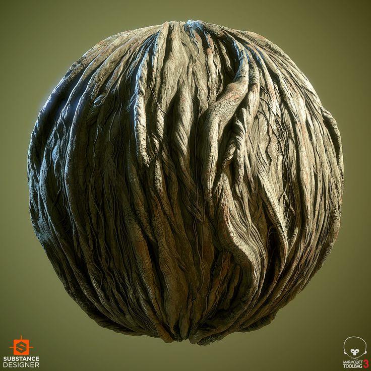 ArtStation - Gnarly Tree Trunk, Daniel Thiger