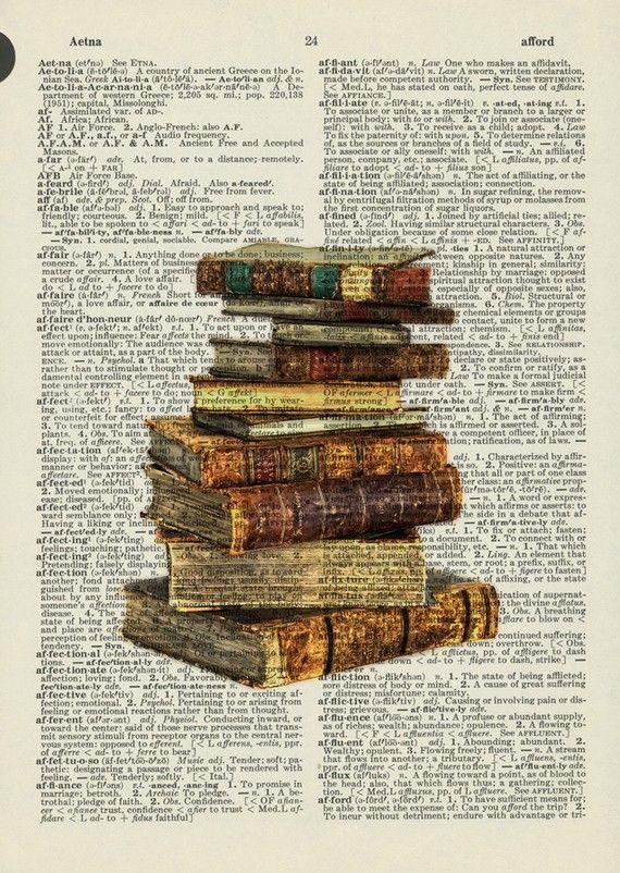 Print eens een fraaie foto of een mooi beeld op een pagina uit een boek. Groots effect.