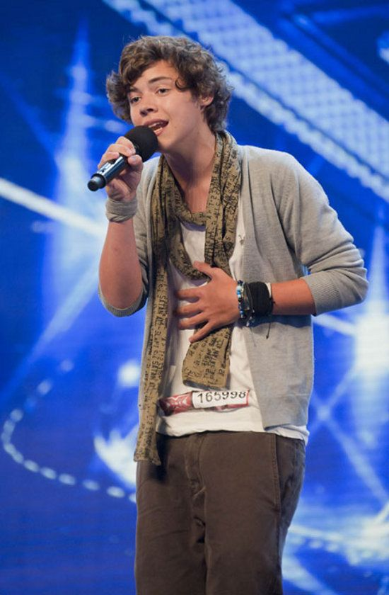 His first audition!!! The first time we ever got to hear him sing!! He was so perfect, and stylish, and still is! I love you so much Harry! #HappyBirthdayHazz