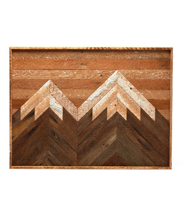 Look at this Mountain Peaks Reclaimed Wood Wall Art on #zulily today!