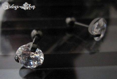 KONOV Piercing Zirkonia Diamant Ohrstecker