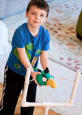 PVC Pipe Sling Shot will you make two of these for us? I'm making some angry birds plush toys for when we have our next sleepover.