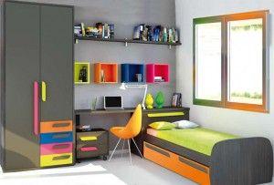 Dormitorio tonos neon