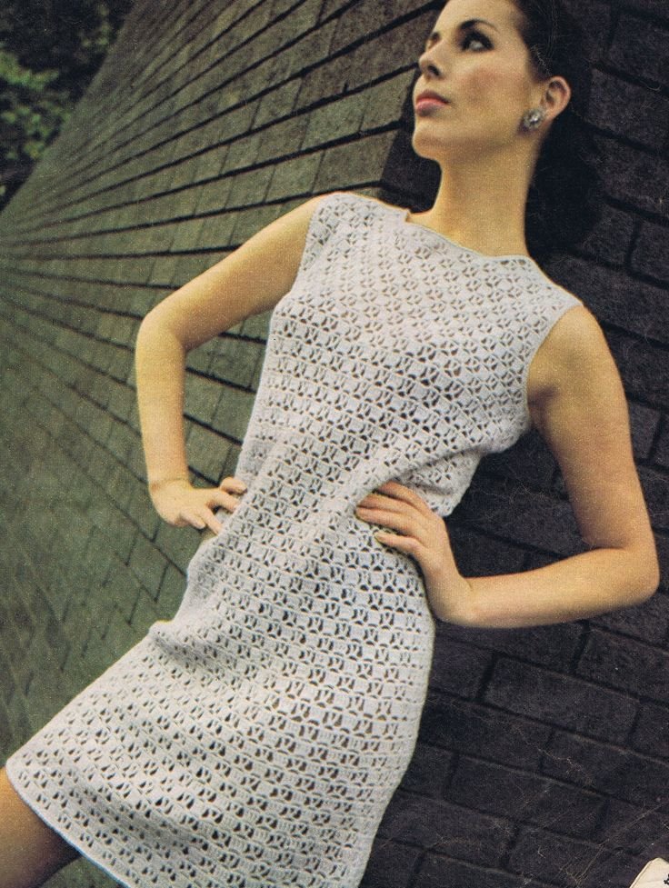 VKNC51 Ladies 60's Dress Vintage Retro crochet pattern - PDF - Digitally restored - EMail. £1.95, via Etsy.