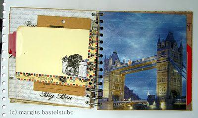 London-Album zum Aufbewahren von Erinnerungen. London album to store memories
