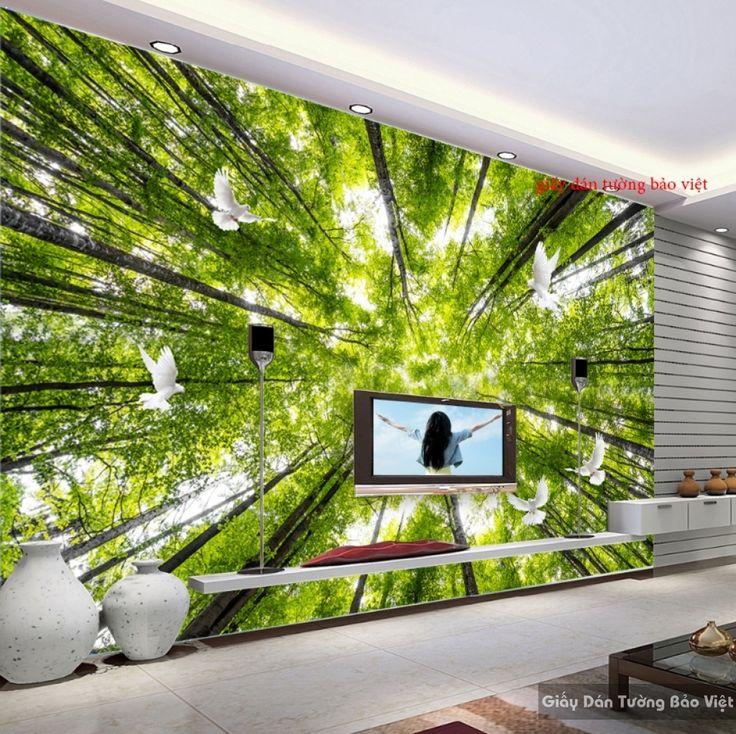 Giấy dán tường 3D thiên nhiên Tr071 | Giấy dán tường Bảo Việt