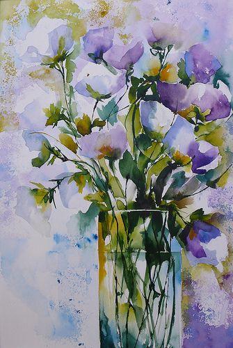 Bouquet+violet #watercolor jd