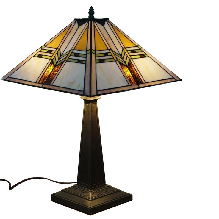 Mission Stained Glass Tiffany Style Table Lamp $126
