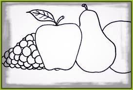 Resultado de imagen para dibujos de frutas para colorear