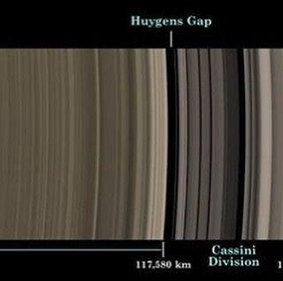 Los anillos de Saturno: una extensión de hielo | La misión de la nasa cassini Un escaneo a través del increíble halo de anillos de hielo de saturno produce un estudio en precisión y orden. Este mosaico natural de color fue adquirido por la nave espacial cassini, ya que se elevó a 39 grados por encima del lado unilluminated de los anillos.  Los principales agujeros marcados se etiquetado en la parte superior. Los anillos principales, junto con el anillo f, son etiquetados en el fondo, junto…
