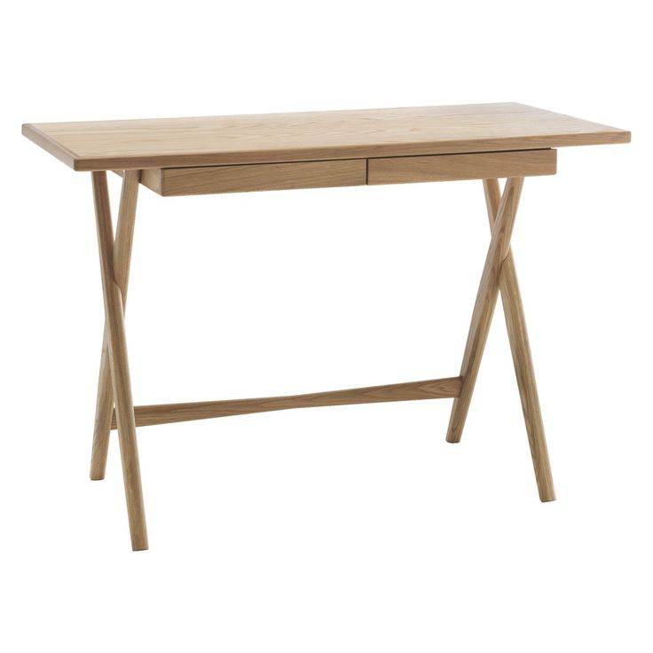 ROSCOE Oak desk with storage drawer