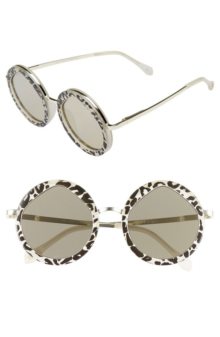 Sleek, round frames featuring a metallic inlay and temples make these sunglasses super stylish.