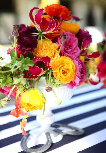 Kentucky Derby Wedding Inspiration - By My Sweet and Saucy: Colorful Flowers, Flowers Colors, Flowers Great Colors, Flower Arrangements, Beautiful Flowers, Floral Arrangements, Bright Flowers, Colorful Roses